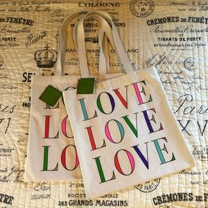 2 NEW Kate Spade Love totes - all NEW WITH TAGS!